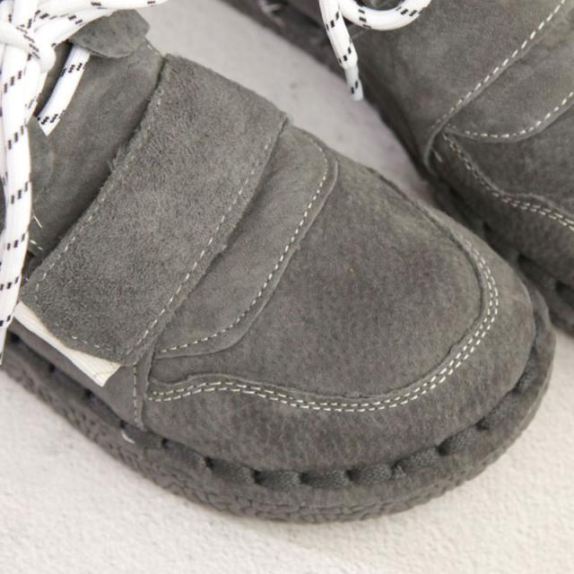Grande navy La Botas Cuero Huifengazurrcs Genuino Mujer Corto Plano Mano nueva grey Green Zapatos Hecho Pan Retro Cabeza De Brown Arte Ocio Puro A xBBwZO0qp