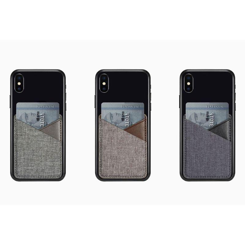 THINKTHENDO 2019 Card Holder Slim Canvas Mobile Phone