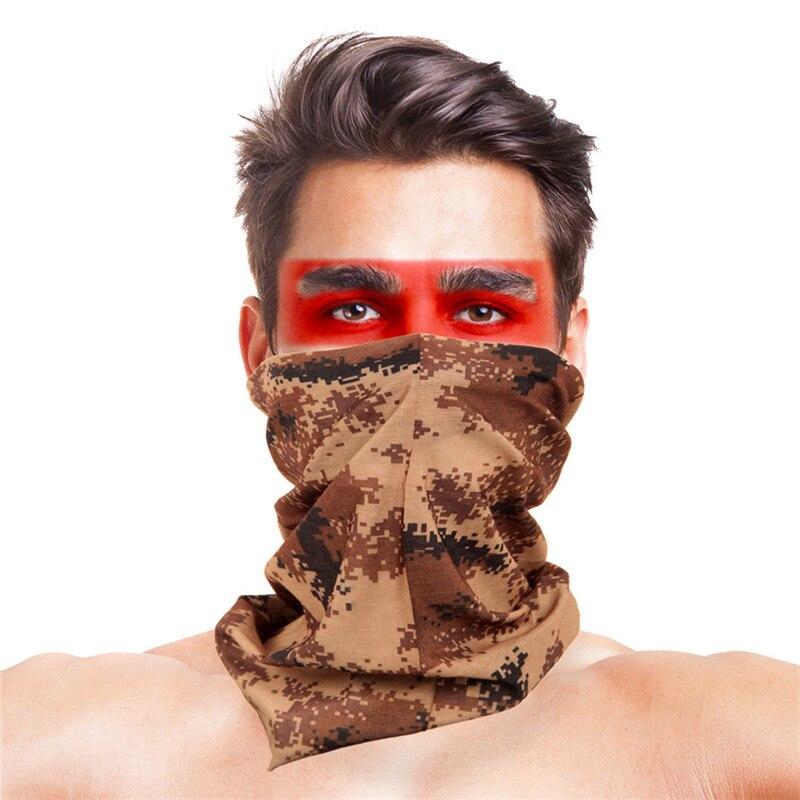Камуфляжный шарф с высоким прыжком, бандана для мужчин и женщин, маска для лица, тактическая, для улицы, волшебный головной убор, для кемпинга, пешего туризма, шейный шарф - Цвет: 014