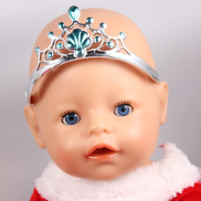 Blue Princess Empress Crown for 43cm Baby Born Zapf Doll Toys Doll Headwear Jewelry A33