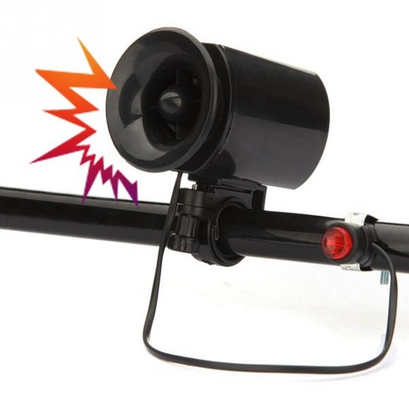 Bike Klaxon Bicycle Waterproof 6 Sound Electric Horn  Bell Speaker Alarm Siren