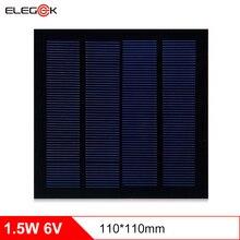 лучшая цена ELEGEEK 5pcs 250mAh 1.5W 6V Solar Cell 110*110mm Polycrystalline PET + EVA Laminated Mini Solar Panel For DIY and Education
