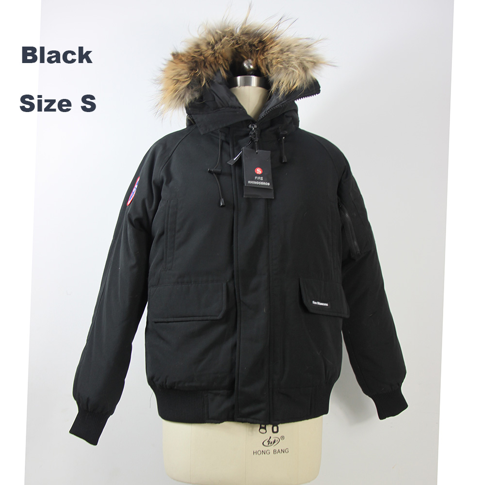 2018 Brand New Mens short model White Duck Down thick Winter Coat Bomber Parka