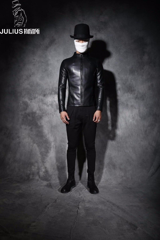 ¡M 2XL! abrigo de cuero corto con cuello de cuero ajustado para hombre nuevo invierno antipersonalidad - 2