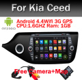Android 5.1 2 din Car DVD GPS Quad core RK3188 1024*600 screen For KIA CEED 2013 2014 2015 GPS WIFI car stereo Car radio audio