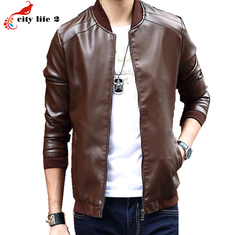 Popular Young Mens Leather Jacket-Buy Cheap Young Mens Leather ...
