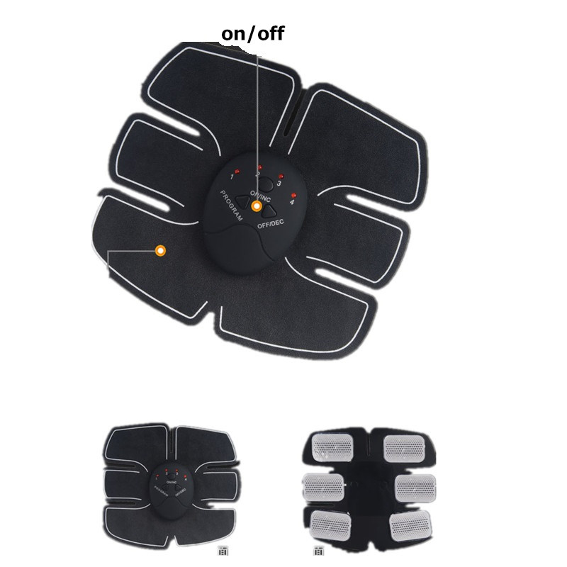 slimming electric abdominal muscle trainer ems body massage training sports exercise loss weight fitness tracker (7)