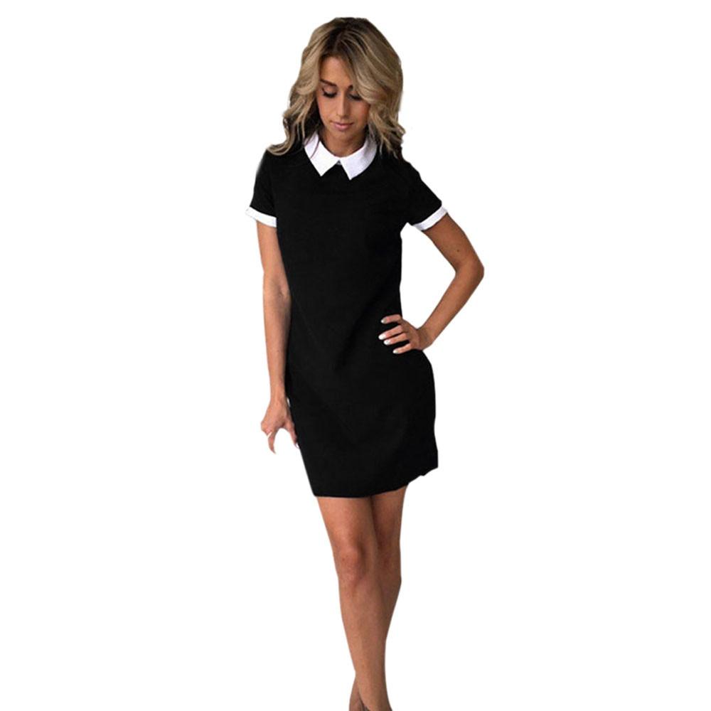 Women Elegant Dress Summer Casual Fashion Short SleeveParty Dress Short Mini Dresses Vestidos mujer 2019 #YL