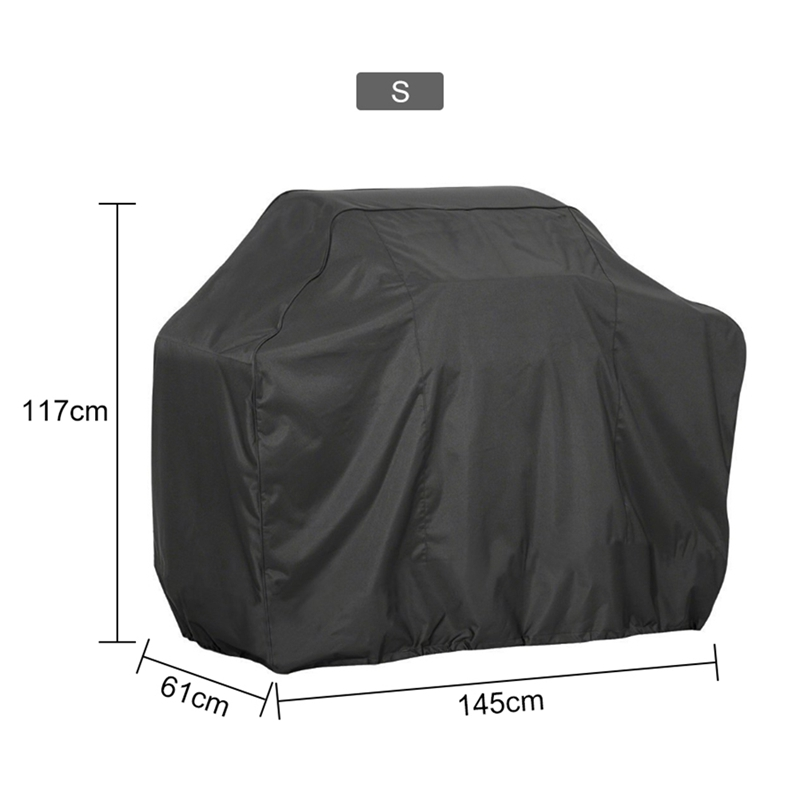 HTB1QsstaFzsK1Rjy1Xbq6xOaFXaT - Black Waterproof BBQ Cover Accessories Grill Cover