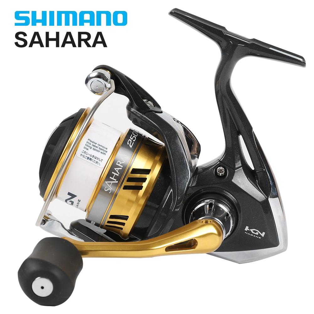 Shimano Original SAHARA FI Spinning Fishing Reel 1000 2000 2500 3000 4000 5000 4+1BB Hagane Gear X Ship Saltewater Fishing Reel-in Fishing Reels from Sports & Entertainment    1
