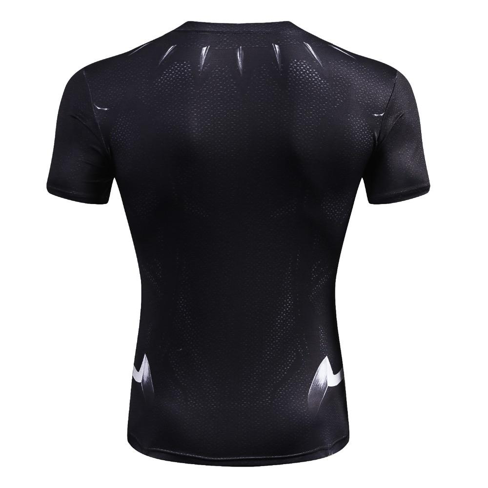 Black Panther T Shirt Compression Shirt Tops 5