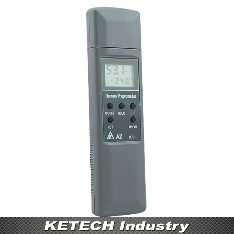 Hygrometer Display Temperature & Humidity Tester AZ-8701 digital indoor air quality carbon dioxide meter temperature rh humidity twa stel display 99 points made in taiwan co2 monitor