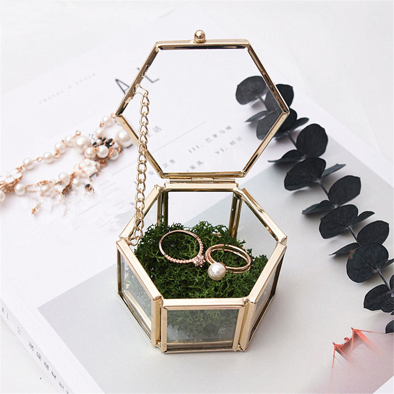 Container Storage-Box Casket Ornaments Jewelry Tabletop Desktop-Display Wedding-Ring