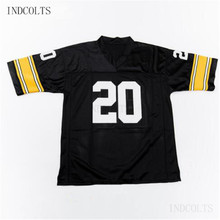 Throwback  20 Rocky Bleier Embroidered Retro star Football Jersey free  shipping INDCOLTS(China) 05d72cfbf