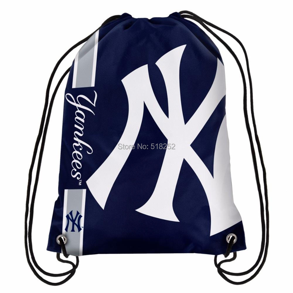 New York Yankees Drawstring Backpack Customize Bags 35x45cm Sports Team,free shipping