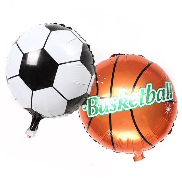 Новый 18 дюймов фольги футбольные шары декорирование детского вечерние Футбол  мяч дети день a93c72131cd87