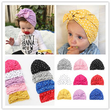 1590a959446 Baby turban hat with bow turbans for tots Infant toddler beanie Baby girls  shower gift stretchy