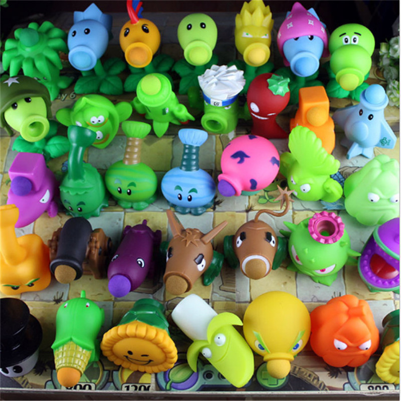 2017 Hot games PVZ Plants vs Zombies Peashooter PVC Action Figure toys Model best Toy Gifts Toys For Children Brinquedos  3 8cm plants vs zombies action figure toy pvc plants vs zombies figure model toys for children collective brinquedos