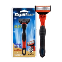YINGJILI Manual Razor Mens Double-sided Safety 1 Handle + Blade Men Shaving With Package