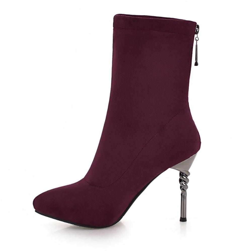 Scarpe Dropship Offerta Calzino Nero speciale Party Size 2018 Donna 43 32 Heels Caviglia Doratasia Stivali Thin High albicocca rosso Donna Big grigio 48XxPyZ