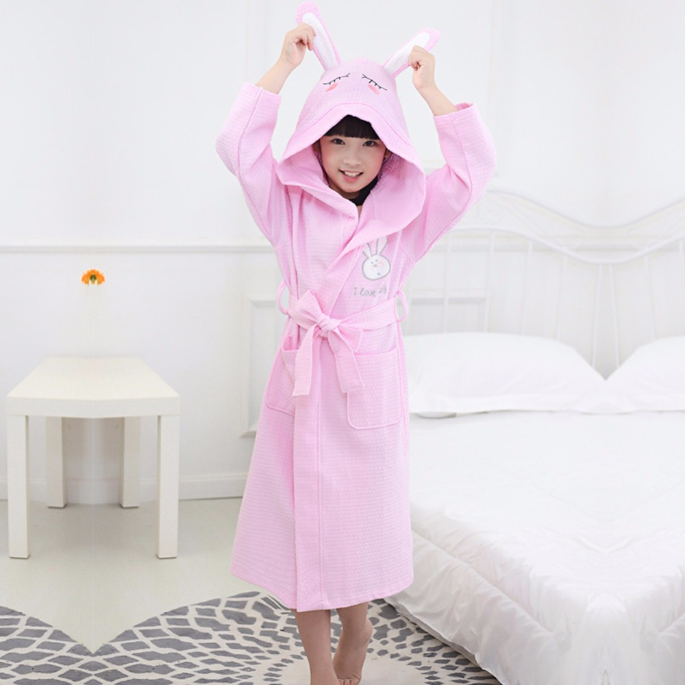 Free shipping 2017 Fashion Boys&Girls Toweling Robe Children\'s Coral ...
