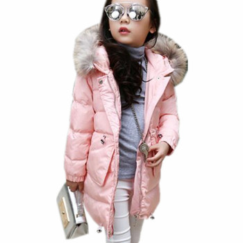 Girls Winter Coat Thick Warm Jackets Hooded Zipper Children Winter Jacket For Girls Baby Girl Outwear Coats Kids Clothes