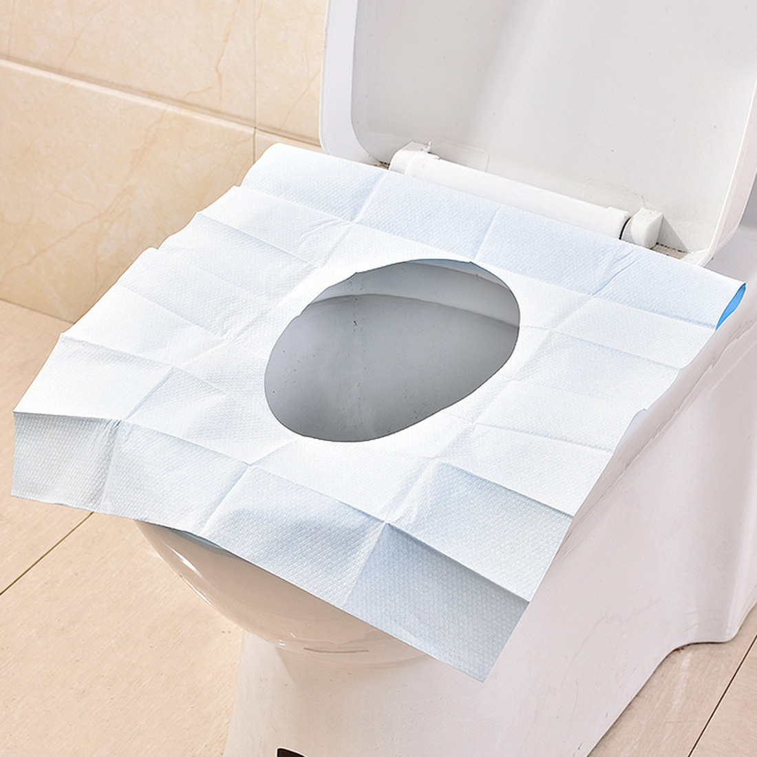 Safety Waterproof Disposable Toilet Pad Toilet Seat Cover Mat for Travel Pregnant Women Antibacterial Pad Bathroom Accessories