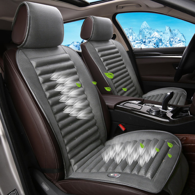 Built In Fan Cushion Air Circulation Ventilation Car Seat Cover For Ford Edge Mondeo Ecosport