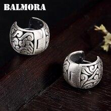 Balmora Real 990 Puur Zilver Holle Wolken Etnische Stud Oorbellen Voor Vrouwen Moeder Gift Vintage Elegante Mode Sieraden Brincos