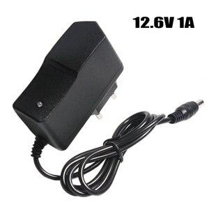 Image 1 - 12.6 V 1A Lityum pil şarj cihazı 18650/polimer pil paketi 100 240 V AB/ABD Plug Şarj Cihazı Tel Kurşun Ile DC Fiş 5.5*2.1*10 MM