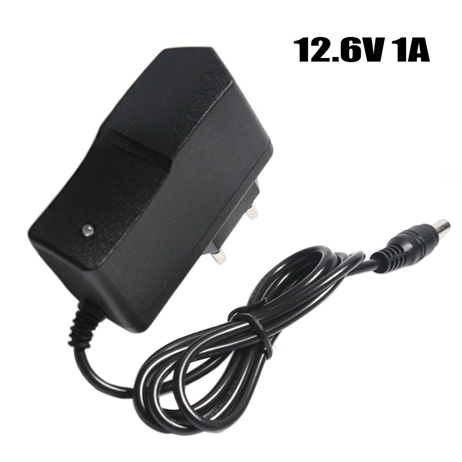 цена на 12.6V 1A Lithium Battery Charger 18650/Polymer Battery Pack 100-240V EU/US Plug Charger With Wire Lead DC Plug 5.5*2.1*10MM