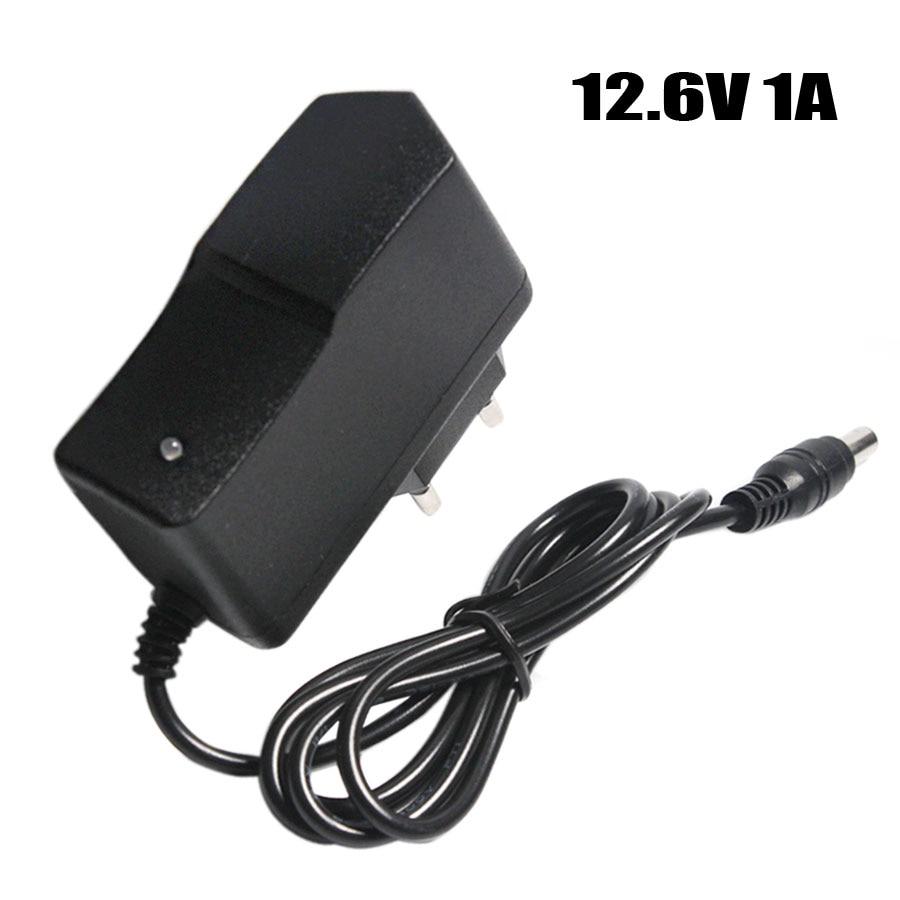 Зарядное устройство для литиевых аккумуляторов 12,6 в, 1 А, 18650/блок полимерных аккумуляторов 100-240 в, вилка для ЕС/США, зарядное устройство с про...