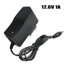 12.6V 1A Lithium Battery Charger 18650/Polymer Battery Pack 100 240V EU/US Plug Charger With Wire Lead DC Plug 5.5*2.1*10MM