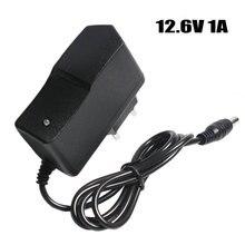 Carregador de bateria de lítio 12.6v 1a, bateria de polímero 18650 100 v ue/eua plug carregador com fio de chumbo dc plug 5.5*2.1*10mm