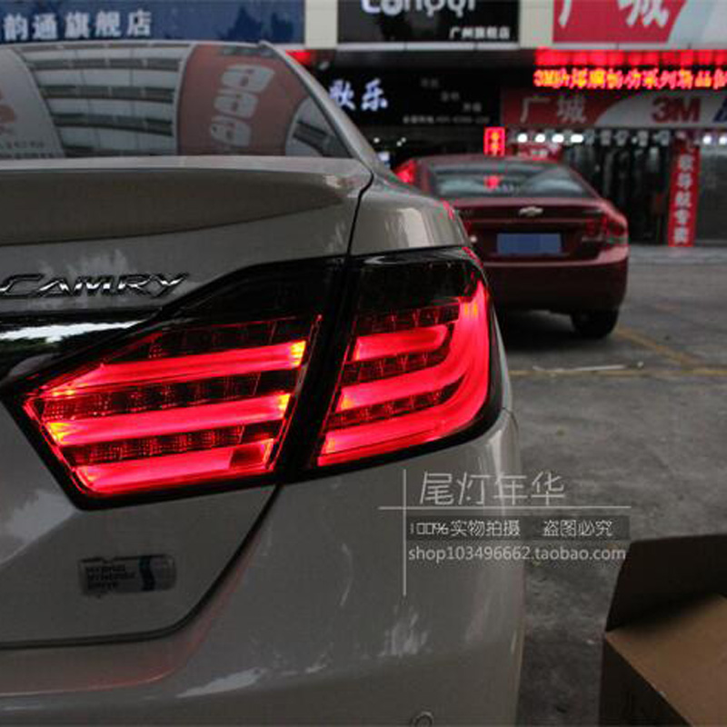 Hireno Tail Lamp for Toyota Camry 2012 2013 2014 Taillight Rear Lamp Parking Brake Turn Signal Lights hireno tail lamp for chrysler 300c 2005 2006 2007 2008 2009 taillight rear lamp parking brake turn signal lights