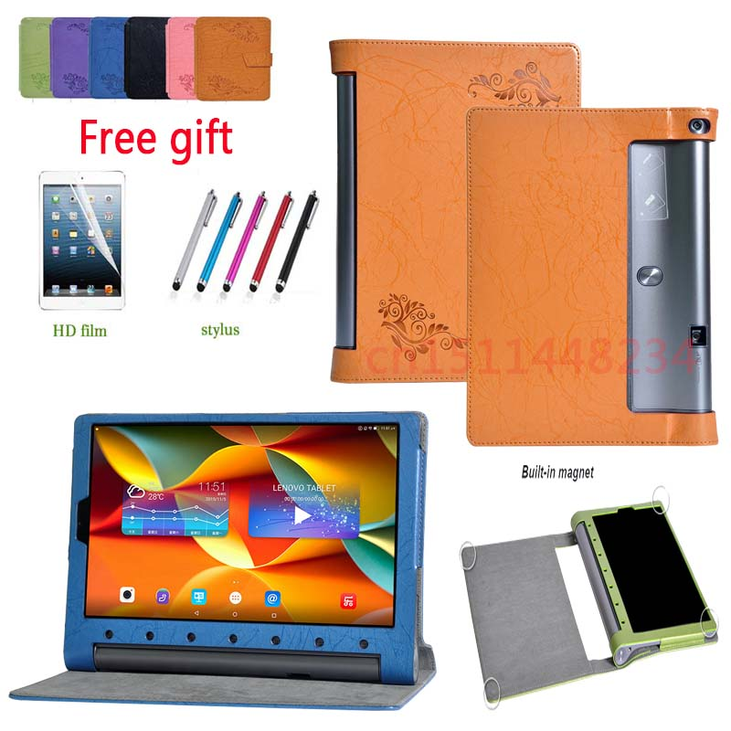 Case For Lenovo YOGA TAB 3 PLUS 10 YT-X703 Tablet cover PU Leather Case For lenovo Yoga TAB3 Pro 10 X90F X90L X90M 10.1+film+pen new original for lenovo thinkpad yoga 260 bottom base cover lower case black 00ht414 01ax900