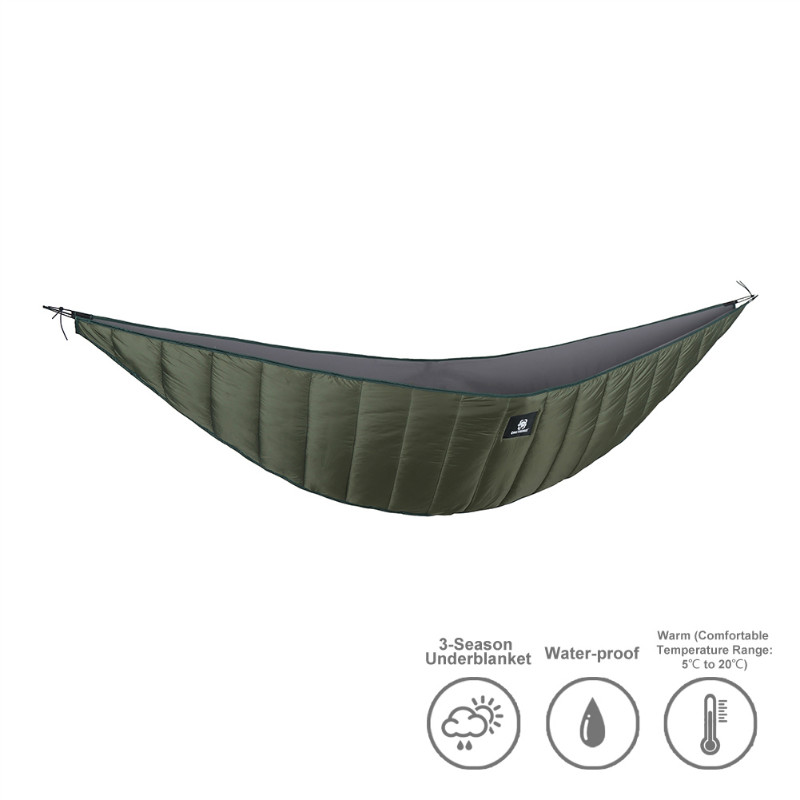OneTigris Lightweight Length Full Hammock underquilt Under Blanket 40 F to 68 F (5 C to 20 C)