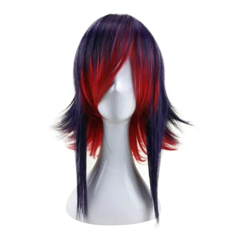 HAIRJOY  Synthetic Hair Purple Blue Mixed Red Cosplay Wig Straight Ombre Costume Wigs 2 Colors Available 13