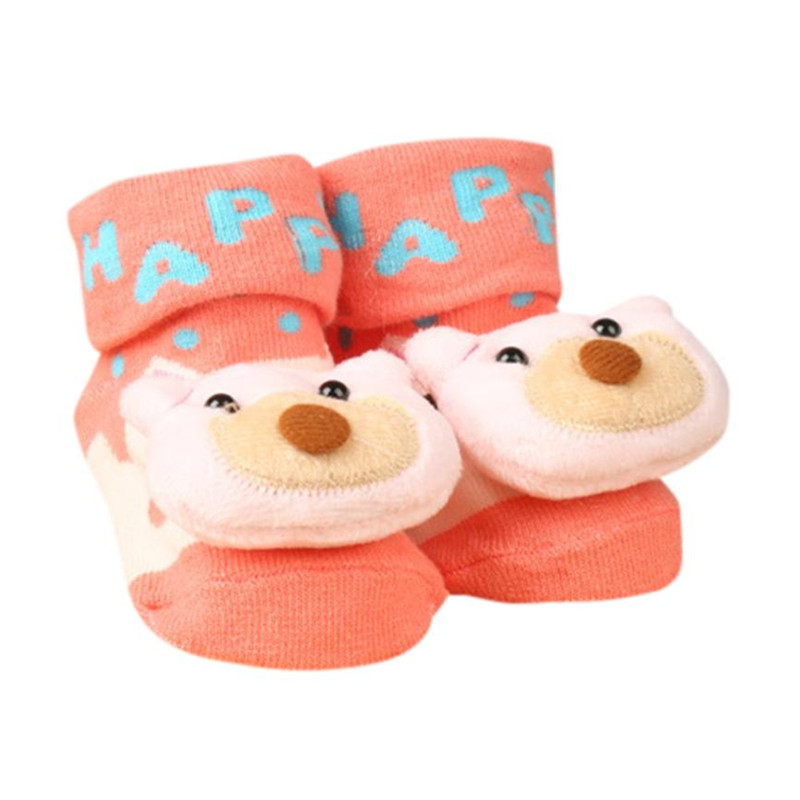 Newborn Slipper Shoes Boots Anti-slip Socks Cartoon for Baby Girl Boy 0-6Months