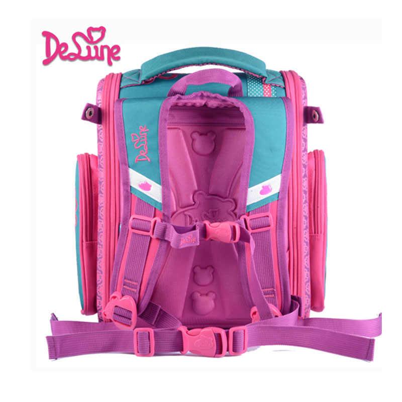 ... Delune 2018 New European Children School Bag Girls Boys Backpack  Cartoon Mochila Infantil Large Capacity Orthopedic ... c8bb5d1997b8a
