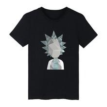 New Rick and morty Geometric 3D Cartoon faucet design print men's suit T-shirt hip hop rap tee shirt Rick and morty