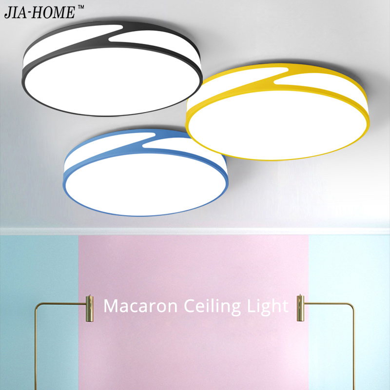 Ceiling Lights For Living Room Bedroom six color body in round shape ...