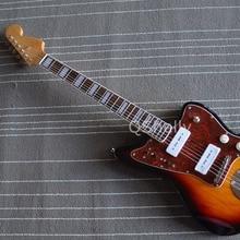 Высокое качество QShelly на заказ sunburst Джаз мастер Китай OEM Гитара s корпус из красного дерева электрогитара Музыкальные инструменты магазин
