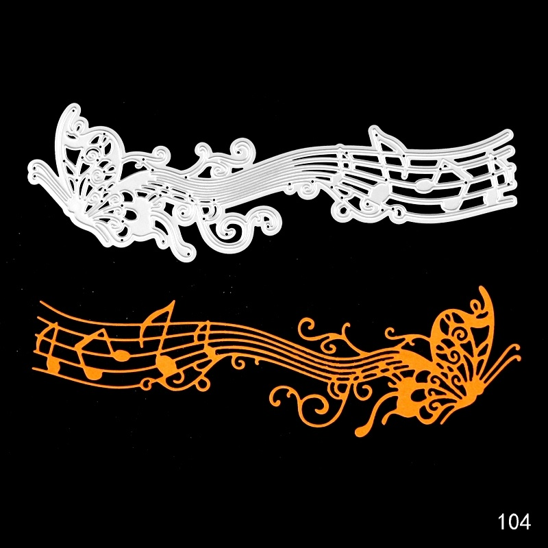 Butterfly Metal Cutting Dies For Scrapbooking Musical Instrument Card Making Album Embossing Crafts Stencil Dies Cut in Cutting Dies from Home Garden