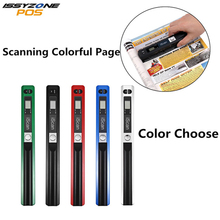ISSYZONEPOS Digital Portable Handheld Document Scanner Image for PC and Mac Free 16G Micro Card Battery JPG/PDF 900 DPI