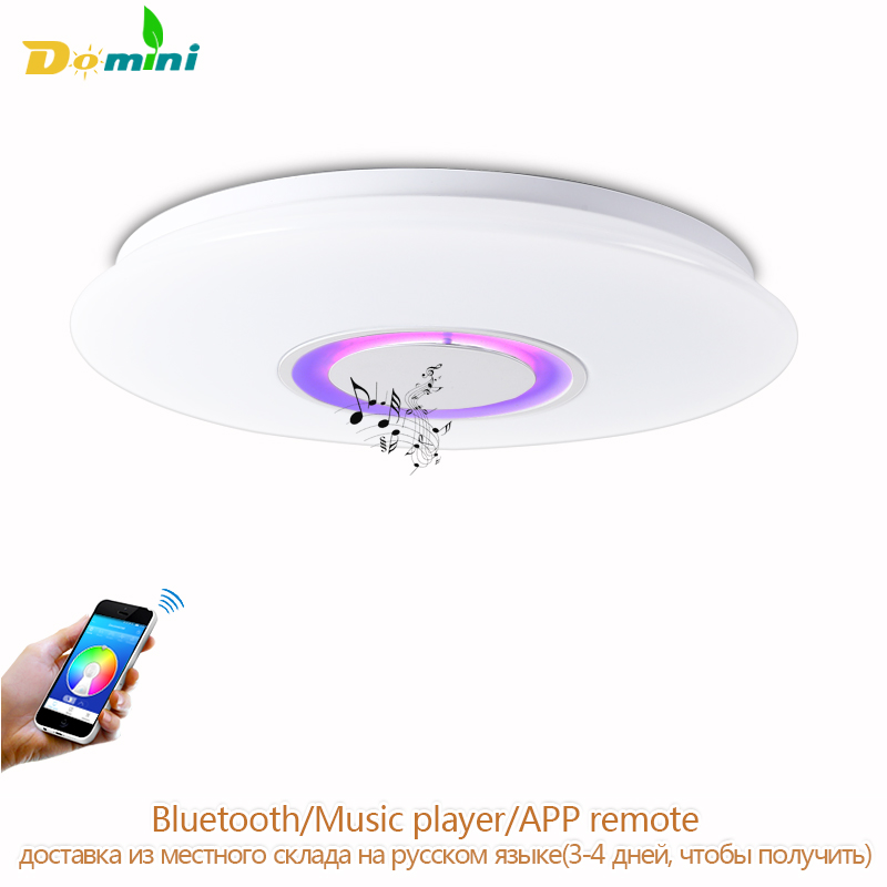 APP Remote Ceiling Lighting For Iphone Bluetooth Speaker Smart LED Lamp Music Light Modern Ceiling Lights For Kids Room Spot Led