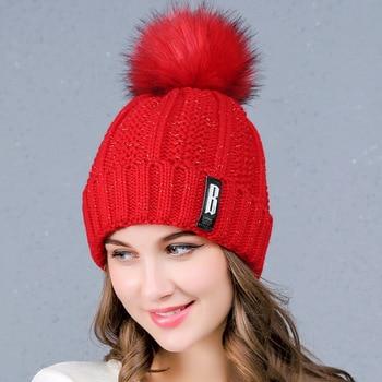 2018 популярные модные вязаные шапочки зимние шапки для женщин