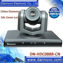 Free Shipping DANNOVO HD USB 3.0 Video Conference Camera,PTZ 10x Optical Zoom,Support UVC(DN-HDC088B-CN)