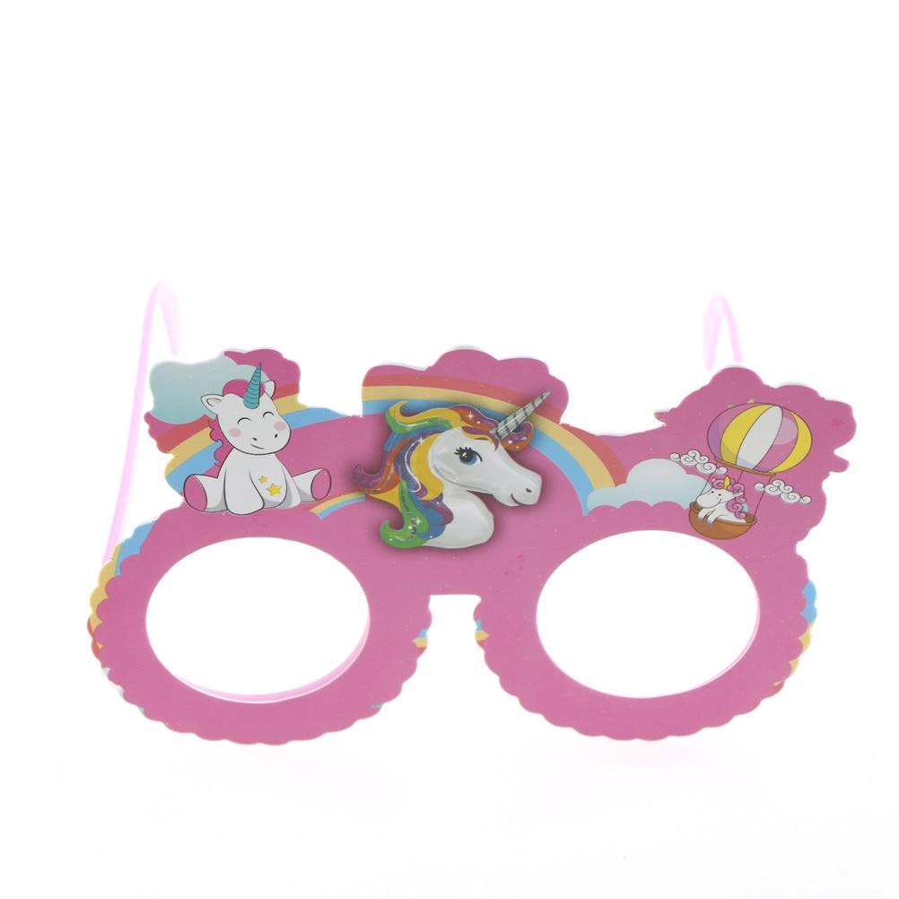 Funny Pink Unicorn Costume Glasses Sunglasses Mask Photobooth Props ...