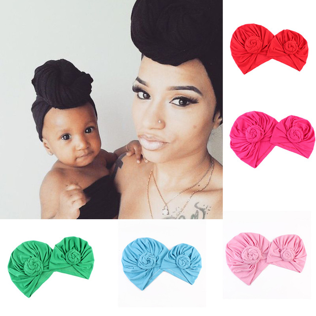 7220fd0da21 2PCS Family Matching Mom Baby Hats Sets Sport Yoga Turban Hats Bebe Women  Mommy Autumn Winter Gorros Para Beanies Photo Props